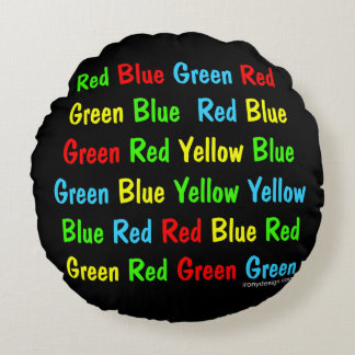 The Stroop Test Round Pillow