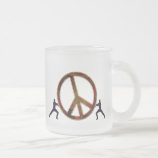 THE STRUGGLE FOR PEACE FROSTED GLASS COFFEE MUG