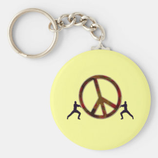 THE STRUGGLE FOR PEACE KEYCHAIN