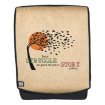 The Struggle is part of your story: Recovery Quote Backpack