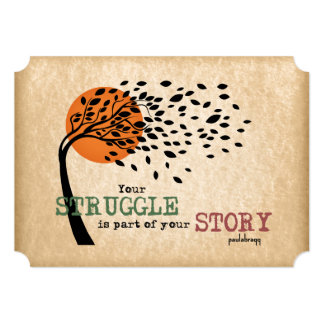 The Struggle is part of your story: Recovery Quote Card