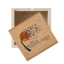 The Struggle is part of your story: Recovery Quote Wooden Keepsake Box