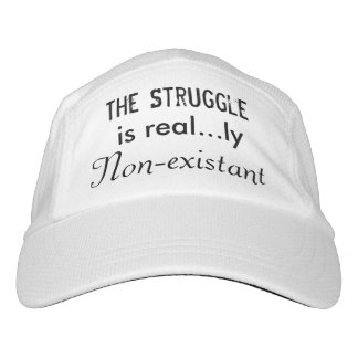 The struggle is real...ly non-existant hat