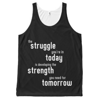 The struggle you're in today developing strength All-Over print tank top