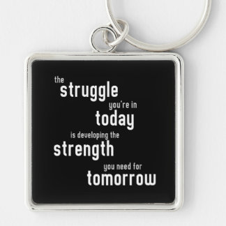 The struggle you're in today developing  strength keychain