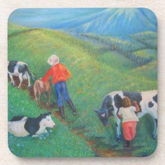 The stubborn cow, coasters