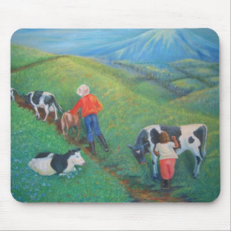The stubborn cow MOUSE PAD