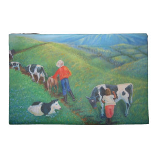 The stubborn cow travel accessory bag