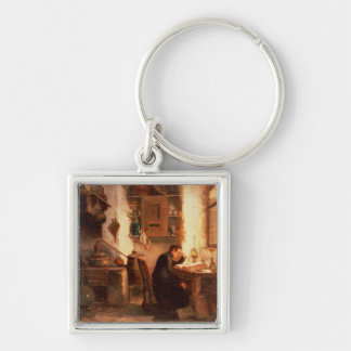 The student of chemistry and pharmacy Silver-Colored square keychain