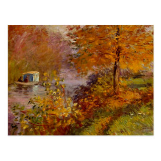 The Studio Boat by Claude Monet Fine Art Postcard