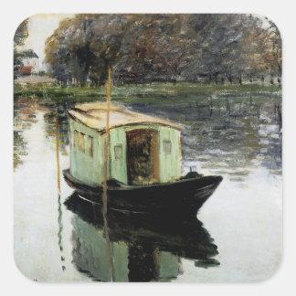 The Studio Boat Square Sticker