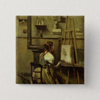 The Studio of Corot Pinback Button