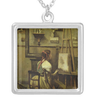 The Studio of Corot Silver Plated Necklace