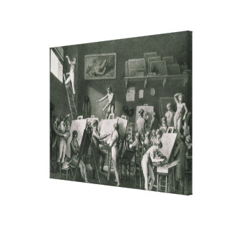 The Studio of Jacques Louis David Canvas Print
