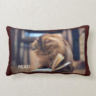 The Studious Cat Throw Pillow
