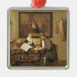 The Studious Life, 1662 Metal Ornament