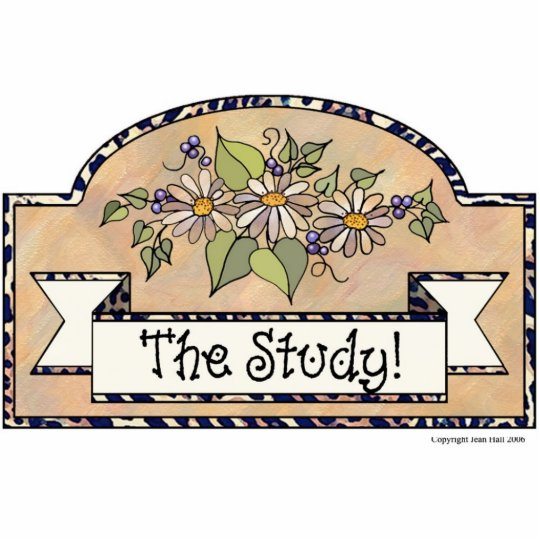 """The Study"" - Decorative Sign Statuette"