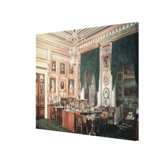 The Study of Alexander III  at Gatchina Palace Canvas Print