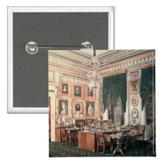 The Study of Alexander III  at Gatchina Palace Pinback Button