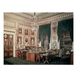 The Study of Alexander III  at Gatchina Palace Poster