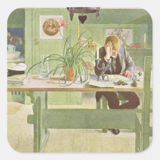 The Study Room, pub. in 'Lasst Licht Hinin'(`Let i Square Sticker