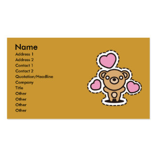 The stuffed toy of the bear business card