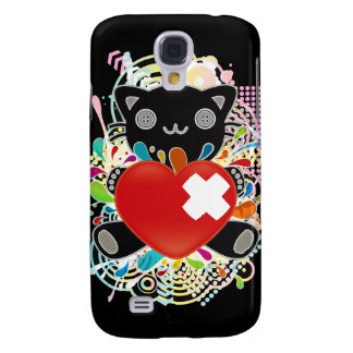 The stuffed toy of the cat galaxy s4 cover