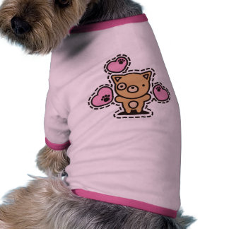 The stuffed toy of the dog pet t-shirt