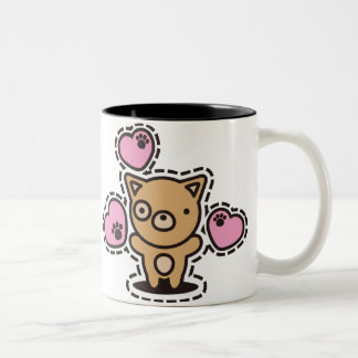 The stuffed toy of the dog Two-Tone coffee mug