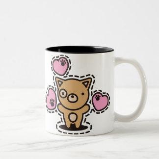 The stuffed toy of the dog Two-Tone coffee mug