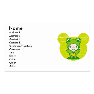 The stuffed toy of the Frog Business Card
