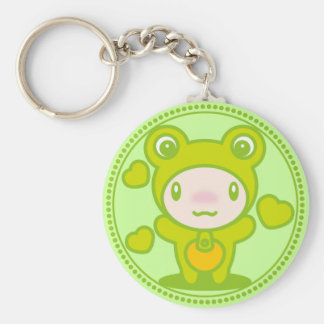 The stuffed toy of the Frog Keychain