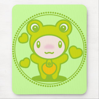 The stuffed toy of the Frog Mouse Pad