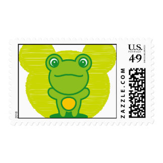 The stuffed toy of the Frog Postage