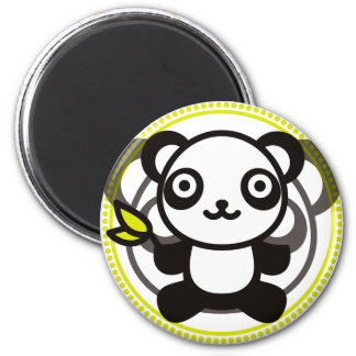 The stuffed toy of the panda magnet