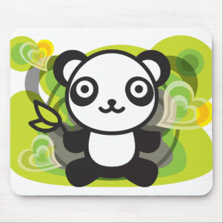 The stuffed toy of the panda mouse pad