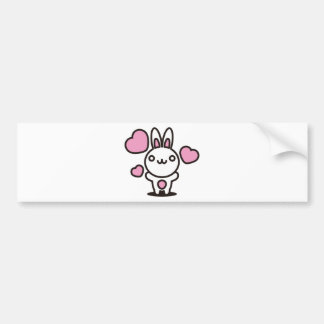 The stuffed toy of the rabbit bumper sticker