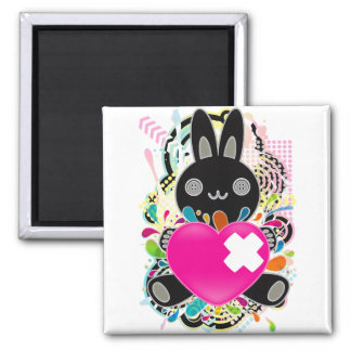 The stuffed toy of the rabbit magnet