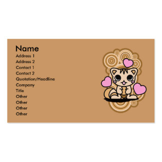 The stuffed toy of the squirrel business card