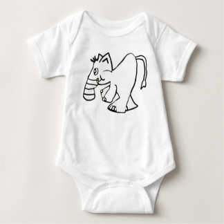 The Stumpy Nose Elephant Baby Bodysuit