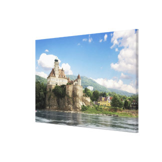 The stunning Schonbuhel Castle sits above the Canvas Print