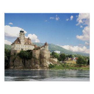 The stunning Schonbuhel Castle sits above the Poster