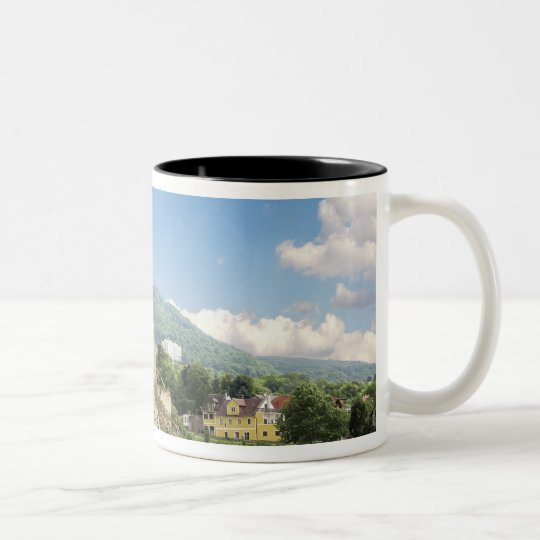 The stunning Schonbuhel Castle sits above the Two-Tone Coffee Mug