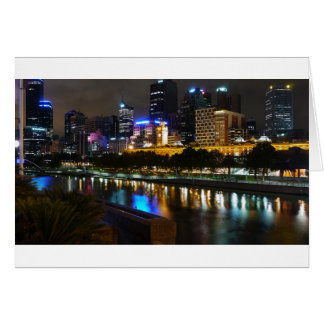 The Stunning Yarra And Melbourne Skyline at Night Card