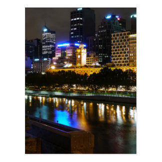 The Stunning Yarra And Melbourne Skyline at Night Postcard
