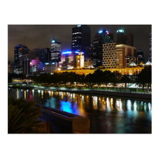 The Stunning Yarra River And City Skyline at Night Postcard