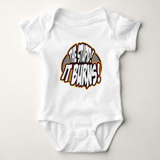 The Stupid, It Burns! Oval Fire Baby Bodysuit