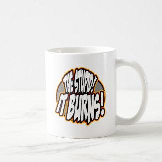 The Stupid, It Burns! Oval Fire Coffee Mug