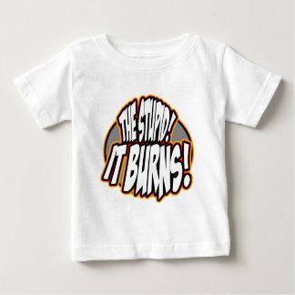 The Stupid, It Burns! Oval Fire Shirt