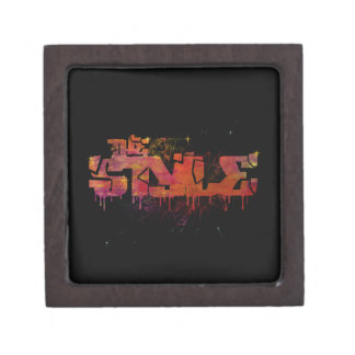 The style in colorful shattered glass premium keepsake box